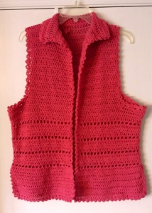 Vest in cotton yarn