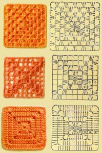 Different Granny Square patterns from Mes Favoris