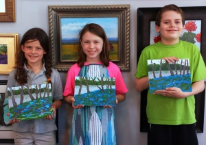 Kids Paint Bluebells