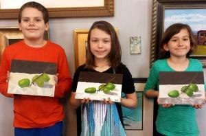 Kids Paint Grapes