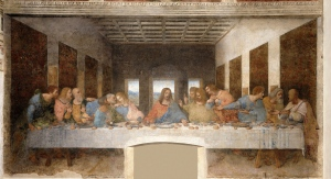 "da Vinci's Last Supper, 181""x 346"", tempera, 1494-1498"