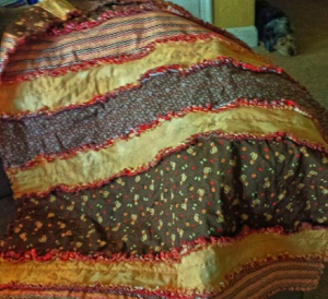 Rag Quilt - Cat Brown 2
