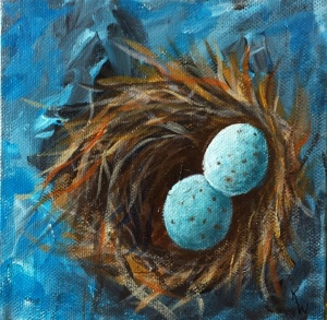 Robin's Eggs in Bird Nest