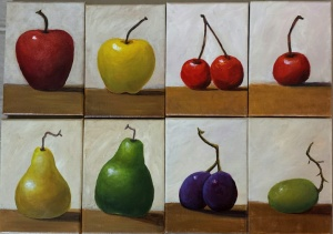 8 Small Fruit Paintings