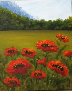 "Poppy Demo 3 - acrylic 16""x20"""