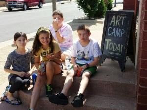 Art Camp Week 1 Day 1 Break
