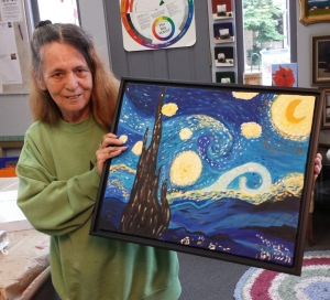 Joy painted Starry Night