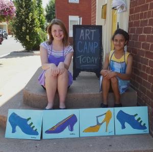 Warhol's Shoes at Art Camp