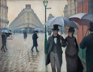 Gustave Caillebotte, Paris Street, Rainy Day, 1877, oil on canvas, The Art Institute of Chicago