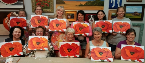 Famous Painters Night-O'Keeffe Poppy