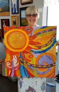 Jill's Fabulous Sun Painting