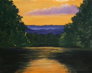 North Fork of Shenandoah River at Sunset II