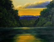 North Fork of Shenandoah River at Sunset I
