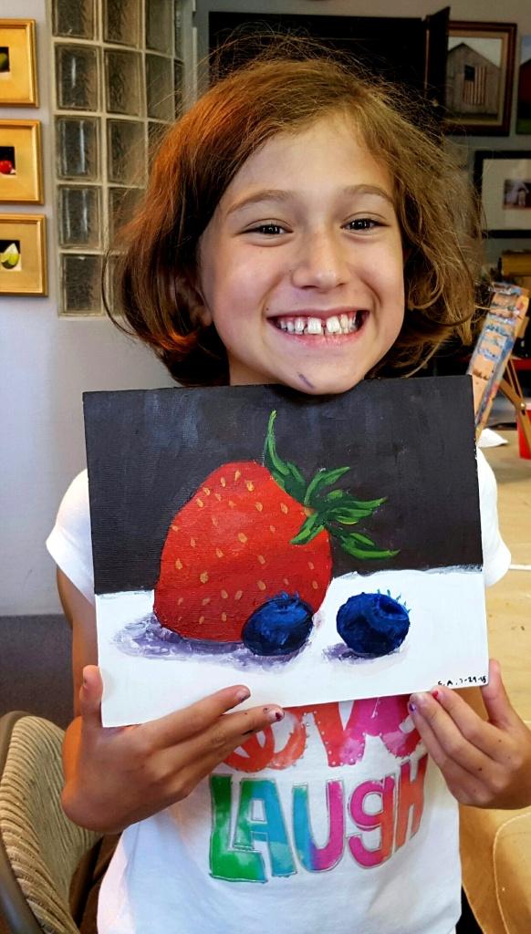 Sophia with Berries
