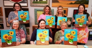 Completed Van Gogh Sunflowers