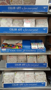 Coloring Book Display at Walmart