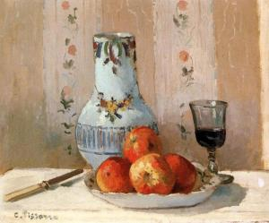 Pissarro Still Life with Apples and Pitcher