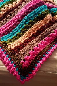 Granny Stripe & Double Crochet pattern in bulky yarn