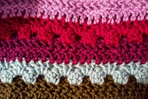 Granny Stripe & Double Crochet pattern in worsted weight yarn