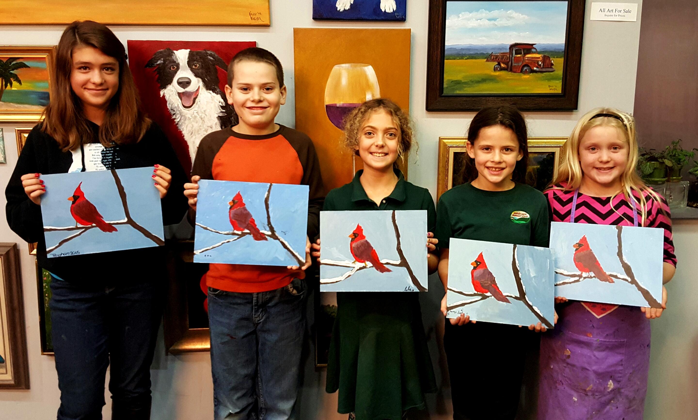 Kids with Redbird