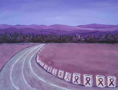 Relay for Life Sample Painting