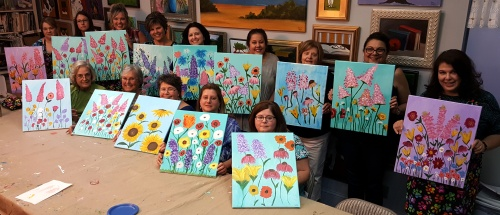 Finger Painting Flowers 2