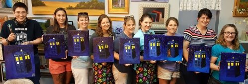 Tardis Paint Party June 16