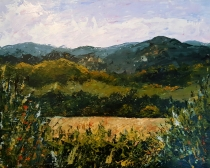Palette knife painting done in the afternoon