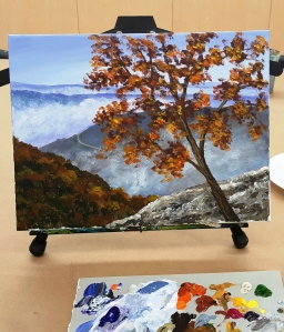 Class with Terry 1my painting