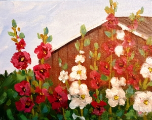 hollyhock-barn