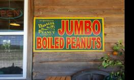 Boiled Peanut s sign