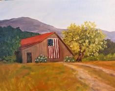 Barn with Flag 3A