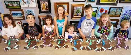 Gingerbread Men with kids