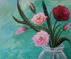 Large Floral in Vase top 2