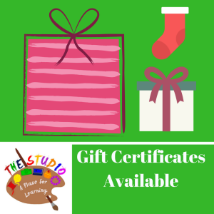 Gift CertificatesAvailable @ The Studio
