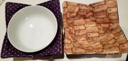 Bowl Cozy cork purple 1
