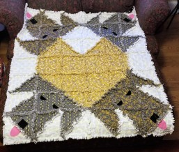 Dog with Heart Rag Quilt 1