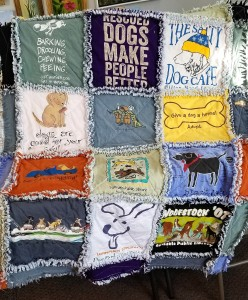 T-shirt Rag Quilt washed