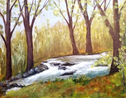 Happy Creek in Plein Air