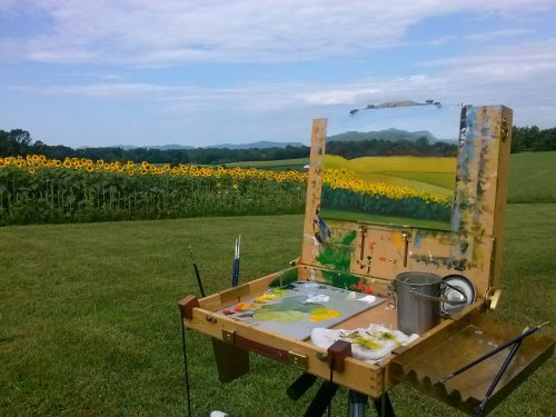Plein Air Sunflowers