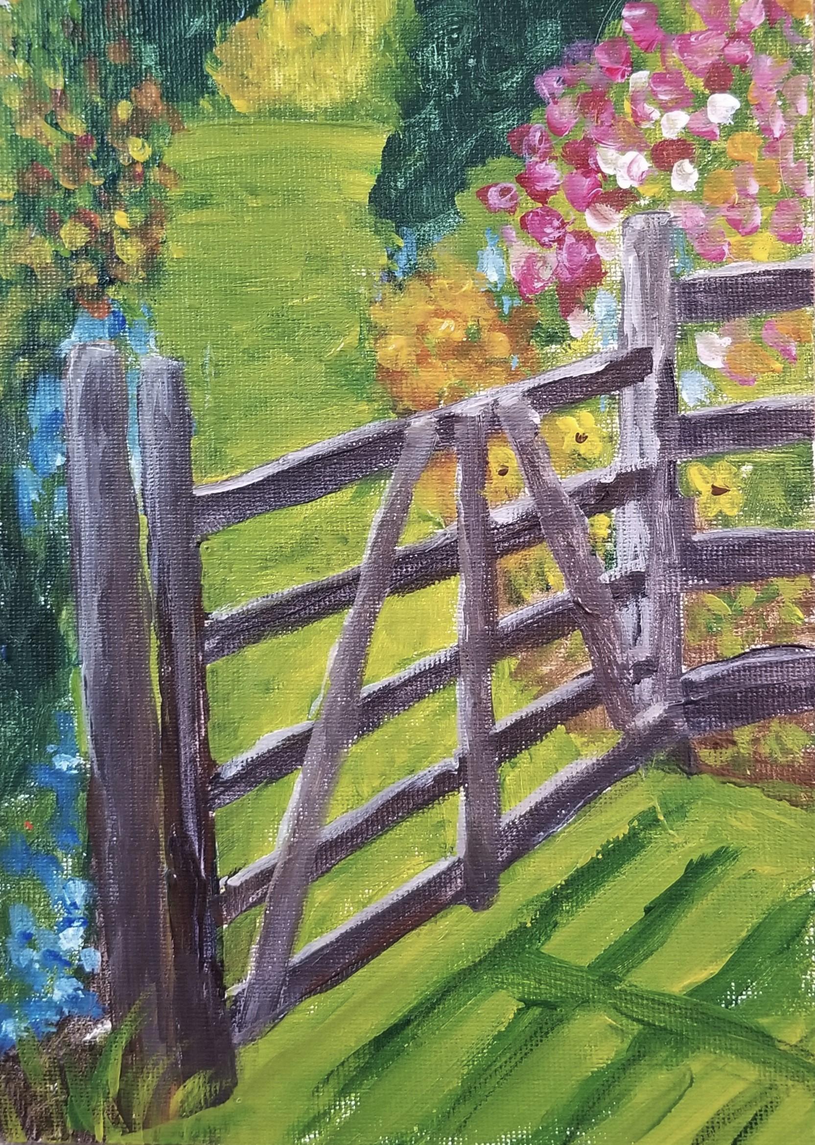 Garden Gate 5x7