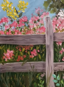 Fence with Flowers left