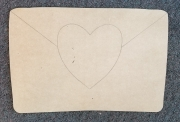 Cutout envelope with heart 1